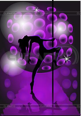 Mädchen tanzen mit Pole | Stock Vektorgrafik |ID 3507089