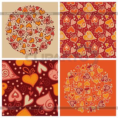 Set der Liebes-Hintergründen für Valentinstagkarte | Stock Vektorgrafik |ID 3512810