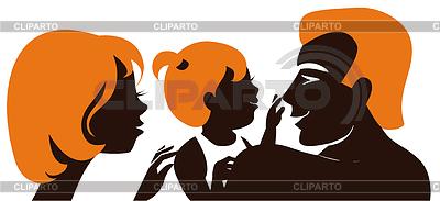 Family. Silhouette von Eltern mit Baby | Stock Vektorgrafik |ID 3512848