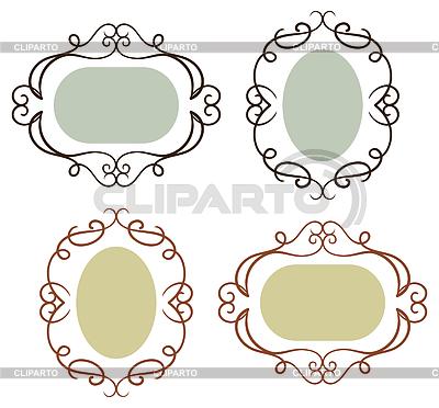 Einfache Vintage-Rahmen | Stock Vektorgrafik |ID 3512930
