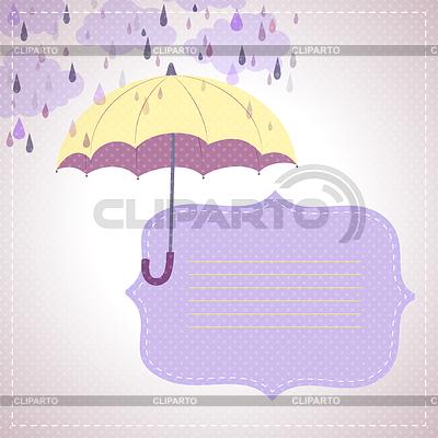 Hintergrund für Nachrichten mit gelben Regenschirm | Stock Vektorgrafik |ID 3535966