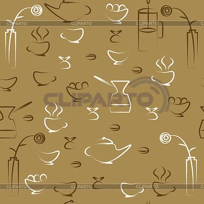 Nahtlose zeichnung über ein thema café evgeniia 555