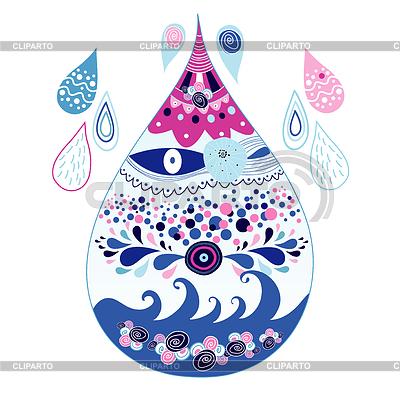 Dekorativer Wassertropfen | Illustration mit hoher Auflösung |ID 3534693