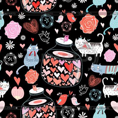 Texture of cat lovers | Stockowa ilustracja wysokiej rozdzielczości |ID 3554260