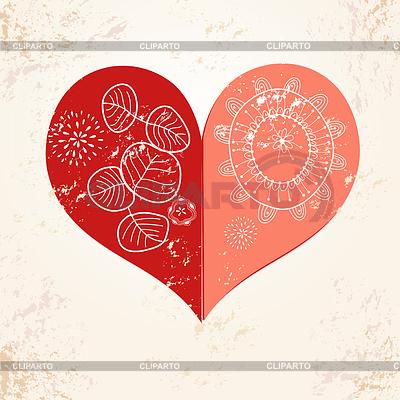 Dekorative roten Herzen auf strukturellen Hintergrund | Illustration mit hoher Auflösung |ID 3574544