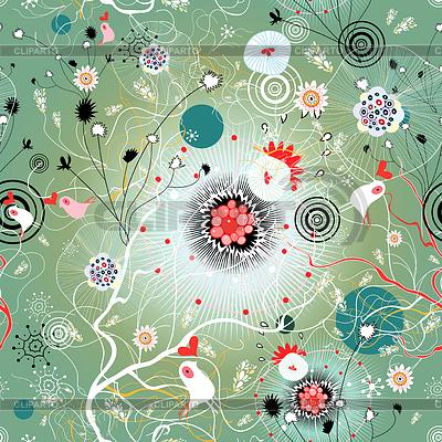 Abstrakter Textur mit Vögeln | Illustration mit hoher Auflösung |ID 3581118