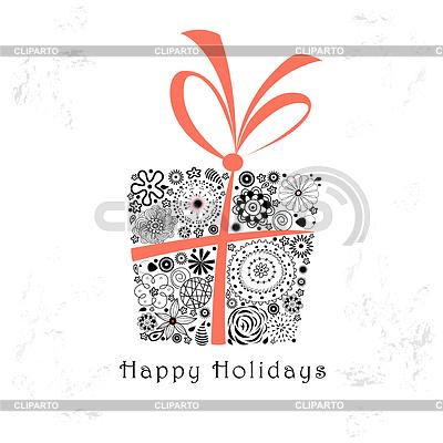 Karta z pozdrowieniami z ozdobnych prezent | Stockowa ilustracja wysokiej rozdzielczości |ID 3601812