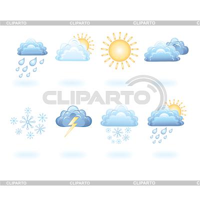 Pogoda ikony | Stockowa ilustracja wysokiej rozdzielczości |ID 3674777