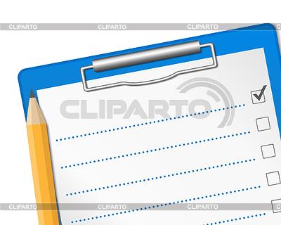 Schowek z listy kontrolnej | Klipart wektorowy |ID 3540019