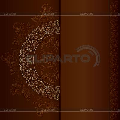 Gold vintage florale Muster auf braunem Hintergrund | Stock Vektorgrafik |ID 3603229