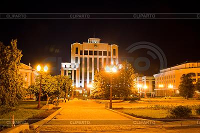 Административное здание, ночной пейзаж, город | Фото большого размера |ID 3548479