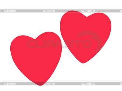Dwie czerwone serce miłość | Foto stockowe wysokiej rozdzielczości |ID 3552918