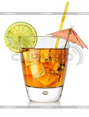 Koktajl w szklance bursztyn | Foto stockowe wysokiej rozdzielczości |ID 3555019