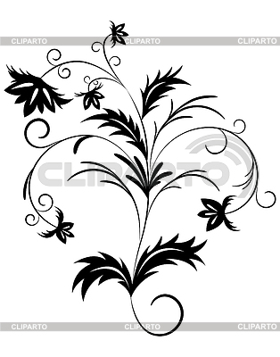 Floral branch | Klipart wektorowy |ID 3577688