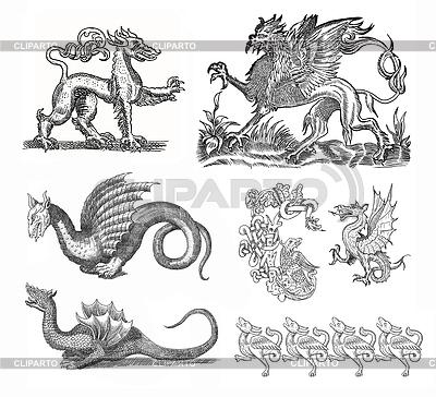 Набор драконов | Иллюстрация большого размера |ID 3599661