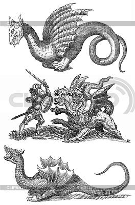 Dragon set illustration | Stockowa ilustracja wysokiej rozdzielczości |ID 3599662