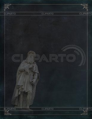 Leonardo Da Vinci Statue in Florenz | Illustration mit hoher Auflösung |ID 3663658
