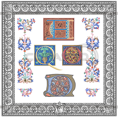 Old initials | Stockowa ilustracja wysokiej rozdzielczości |ID 3691872