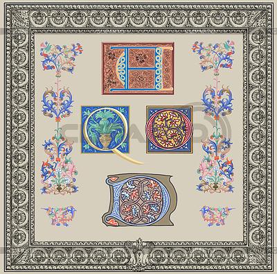 Old initials | Stockowa ilustracja wysokiej rozdzielczości |ID 3691873
