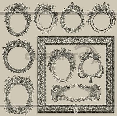 Stare ramki zestaw ilustracji | Stockowa ilustracja wysokiej rozdzielczości |ID 3699599