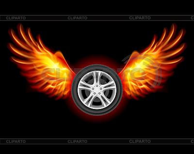 Rad mit Flügeln | Stock Vektorgrafik |ID 3573763