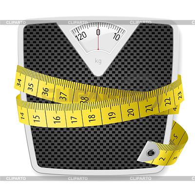 Gewichte und Maßband | Stock Vektorgrafik |ID 3574068