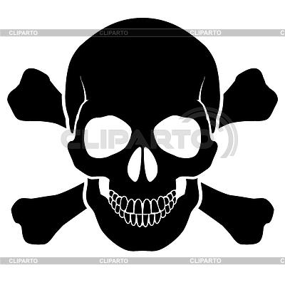Czaszka i kości | Klipart wektorowy |ID 3574417