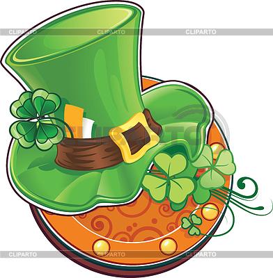 Symbol von St. Patricks Day. Hut von Leprechaun | Stock Vektorgrafik |ID 3573361