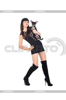 Dziewczyna i jej pies | Foto stockowe wysokiej rozdzielczości |ID 3575347