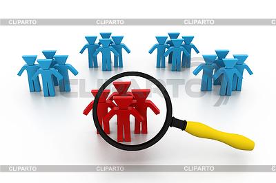 Concept of searching people or employee | Stockowa ilustracja wysokiej rozdzielczości |ID 3621179