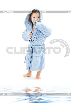 девушки голубом халате фото