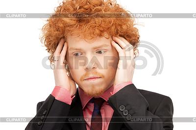 Nieszczęśliwy człowiek | Foto stockowe wysokiej rozdzielczości |ID 3631319