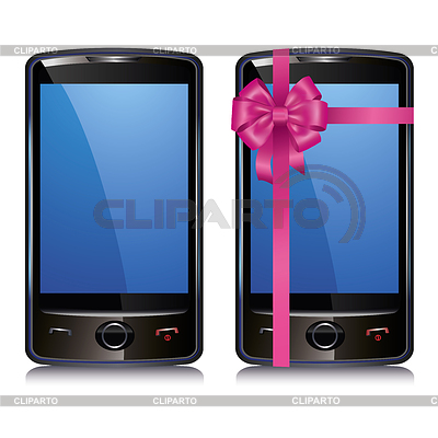 Set of two touch screen smart phone | Klipart wektorowy |ID 3663449