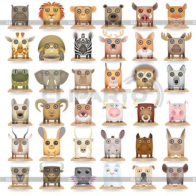 Tiere setzen neue große | Illustration mit hoher Auflösung |ID 3641056