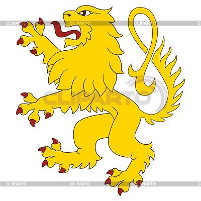 Stehend Heraldic Lion | Illustration mit hoher Auflösung |ID 3691644