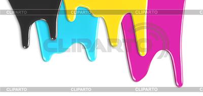 CMYK cyan, magenta, żółty, czarny farby kapanie | Foto stockowe wysokiej rozdzielczości |ID 3657036