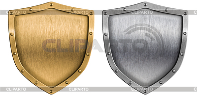 Metallschirmen eingestellt Silber und Gold | Foto mit hoher Auflösung |ID 3657075