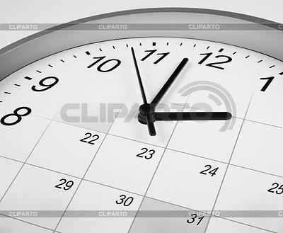 Zifferblatt und Kalender. Zeit-Management-Konzept | Foto mit hoher Auflösung |ID 3657155