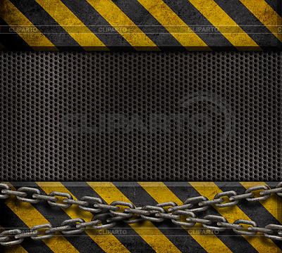 Grunge Metallplatte mit gelben und schwarzen Streifen | Foto mit hoher Auflösung |ID 3657159