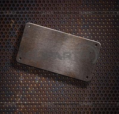 Grunge rostige Metallplatte über grid background | Foto mit hoher Auflösung |ID 3657209