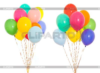 Kolorowe grono balony wypełnione helem | Foto stockowe wysokiej rozdzielczości |ID 3657218