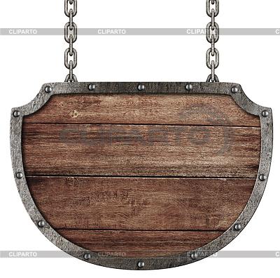Mittelalterlichen Schild hängen an Ketten | Foto mit hoher Auflösung |ID 3657529