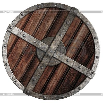 Старый деревянный щит викинга с металлическими границы | Фото большого размера |ID 3657721