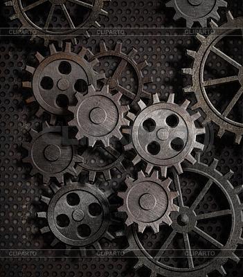 Ржавые металлические шестерни - фон | Фото большого размера |ID 3657936