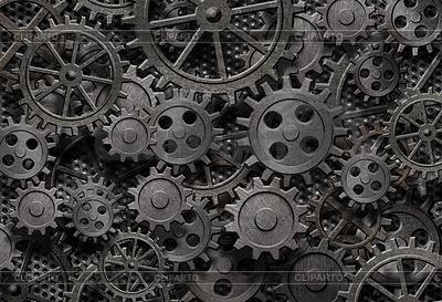 Vielen alten rostigen Metall-Getriebe oder Maschinenteile | Foto mit hoher Auflösung |ID 3657988