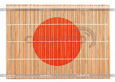 Bamboo podkładka z kolorów flagi Japonii | Foto stockowe wysokiej rozdzielczości |ID 3658308