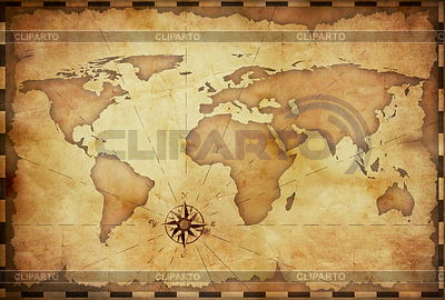 Abstrakten alten Grunge Weltkarte | Illustration mit hoher Auflösung |ID 3658359