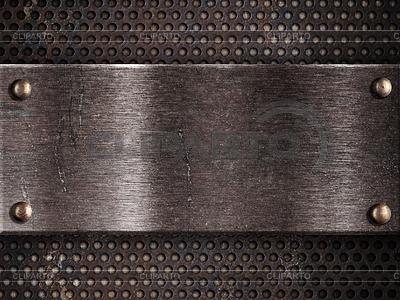 Rostigen Metallplatte auf grid background | Foto mit hoher Auflösung |ID 3658398