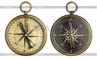 Old compass Sammlung. Zwei alte Messing antik | Foto mit hoher Auflösung |ID 3658502