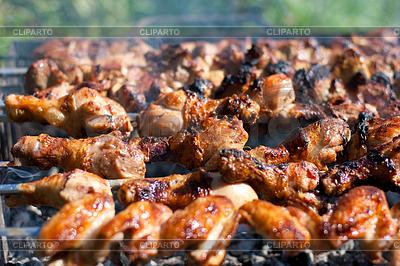 Grill lub smażonego kurczaka i mięso wieprzowe | Foto stockowe wysokiej rozdzielczości |ID 3658953